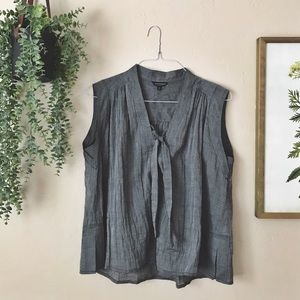 Lucky Brand Tie Front Tank